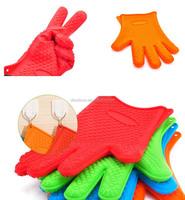 3 finger silicone glove oven mitt/ heat resistance silicone glove 3 fingers