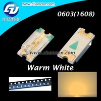 SMD/SMT Super Bright Surface Mount Light Emitting Diode warm white SMD 0603 LED
