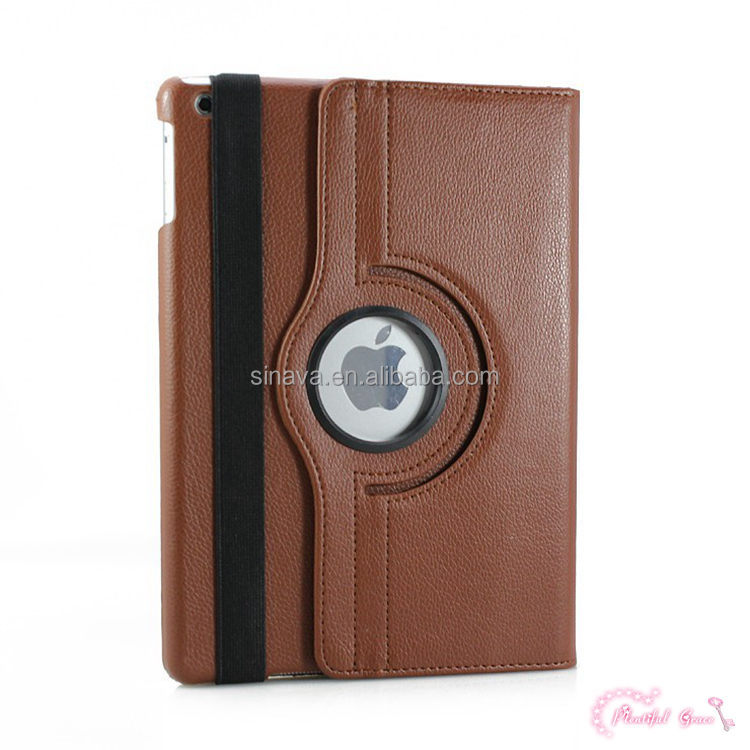 360 Degree Rotate Leather Case Cover For Ipad Air 360 Case Cover