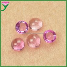 wholesale 1.25# pink synthetic cabochon corundum ruby gemstone