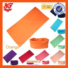 Top Popular Orange Custom Fashion Multifunction Headwear Bandana