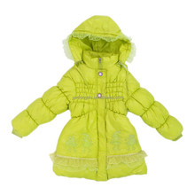 Low Price Real Feather Down Jacket Girls Shiny Down Jacket