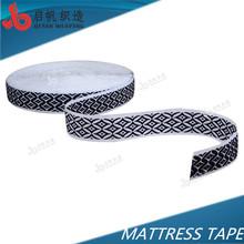 40mm black and white mattress edge tape