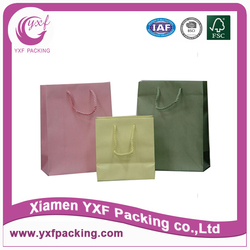 wholesale customized plain paper bag