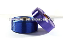 super bright polyester draw textured yarn for label ribbon cloth woven