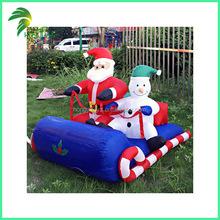 Lovely Driving Design Inflatable Christmas Decorative Air Santa Snowman
