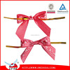 2015 Candy /Food packing decoration pre made mini satin ribbon bow twist ties/pre made ribbon bow for packing