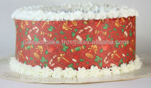 Comestibles de la hoja de navidad para la decoración de tortas, taza de pasteles y galletas.