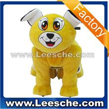 good appearance plush animal ride-on for mall for both kids and parents--hello dog