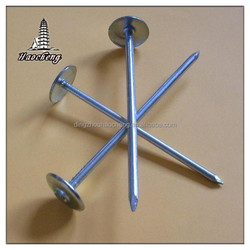 "BWG9 X 2.5"" Galvanized umbrella roofing nails"