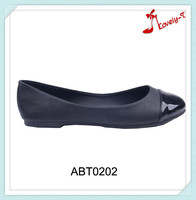 Shiny toe part casual style flat shoes reasonable price woman flat bottom shoes