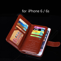 Fancy phone cases wallet for iPhone 6 for iPhone 6s case for apple phones with Pu leather