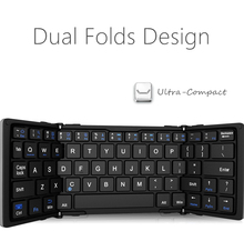 Bluetooth wireless aluminum metal portable foldable folio thin keyboard with ultra slim case cover for iPad Air