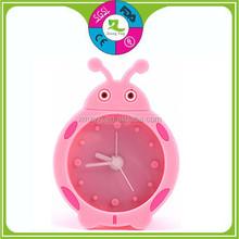 classic funny decorative silicone mini travel alarm clock green