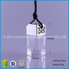 big water square shape hanging car perfume glass bottle .car freshener .aroma diffuser.