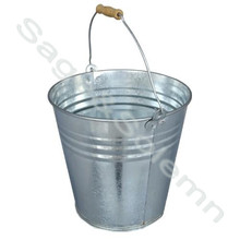 24cm Round Galvanized Metal Iron Beer Bucket / Ice Bucket with Wooden Handle