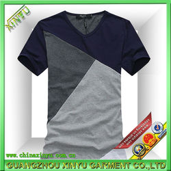 China supplier garment men t shirt korea design
