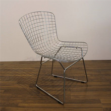 barbecue garden outdoor wire Bertoia side chair
