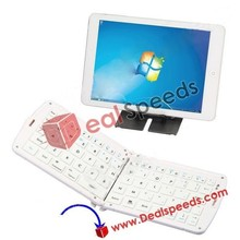 Mini Folding Bluetooth Wireless Keyboard for Smart Phone Tablet PC iPhone5 iPad etc with Stand Bracket