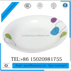 daily used porcelain salad plate, ceramic soup plate, Chinese porcelain plate