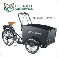 CE utility cargo bicycle 36V 9Ah family electric cargo bike/shopping electric cargobike/the until.ity electric tricycle UB9031E