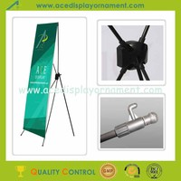 Foldable Black Economic Plastic X Banner Display Stand
