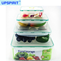 Wholesale 4PCS Food Storage Boxes Set Four Size BPA FREE Plastic PP Airtight Vacuum Container with Lock Cover