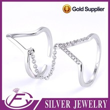 Newest design fashion style 925 sterling silver midi finger rings