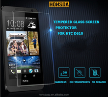Mobile phone tempered glass protector / film for HTC M7/M8 .