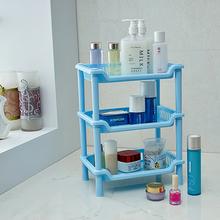 Bathroom 3 Layers Plastic Rectangular Sundries Storage Rack