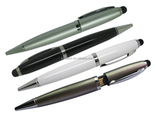 Metal USB Pen, Ballpen with USB Flash Drive, Silvel Metal Ballpoint Pen with USB Flash Drive