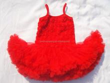 ST-207 Baby Chiffon Princess Dress Toddler Girls Rose Ball Gown Cute Bubble Tutu Dress Baby Fashion Spring Summer Clothing