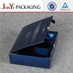 Foldable blue gear insert custom clothing window box see through gift boxes