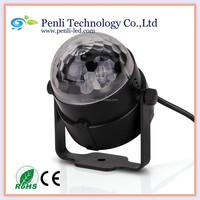 3W High Power RGB 3 LED Stage Light Mini Crystal Ball Effect Lamp AC100-240V