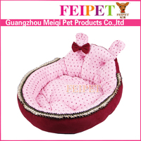 luxury pink heated pet bed comfortable small dog sofa bed wholesale
