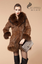 CX-G-A-30 2013 Rabbit Fur Winter Coat For Women