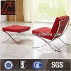 Barcelona cadeira e otomano, cadeira de couro, estilo europeu chaise lounge