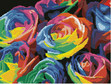 Hot sale colorful rose design diy crystal diamond drawing mosaic picture