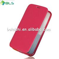 New design soft leather cover for motorola moto x phone flip case