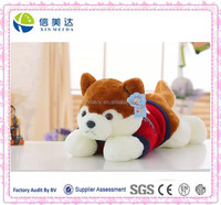 Cute husky with knitted clothes stuffed animal plush dog toy