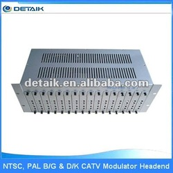 JM-50168 Upgrade CATV Headend 16 in 1 NTSC, PAL B/G & D/K Fixed Modulator with Combiner radio station equipment for sale