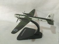 ATLAS 1/144 German Air Force Eagle lion Henkel He-177 bomber aircratf die-cast model