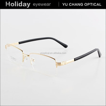 2015 new model metal alloy glasses frame , half rim eyeglass
