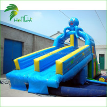 Best Quality Inflatable Blue Octopus Slide