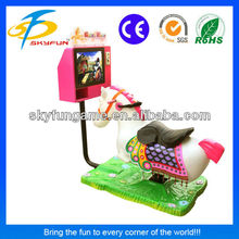 2015 hot children game golden horse coin operated kiddie ride for sale