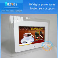 Acrylic 10 inch digital picture frame with remote controller