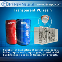 Liquid transparent/clear polyurethane/PU resin for crystal crafts