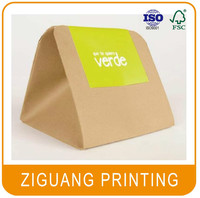 Custom printed triangle shaped box