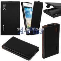 2014 New Synthetic Leather Flip Skin Case Cover For LG Optimus L5 E610 E612 SV004729