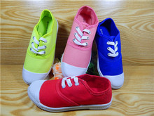 2015 New model canvas shoes with candy color
